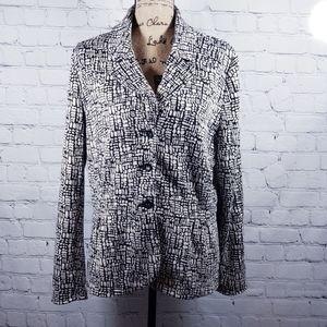 Marisa Christina soft black & white blazer size XL